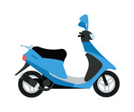 Scooter silhouette symbol and bike cartoon icon vector Royalty Free Stock Image