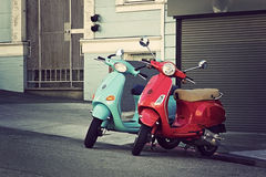 Scooter style of life Royalty Free Stock Images