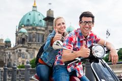Scooter tour to Berlin Cathedral. On the museum island Stock Images