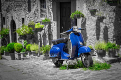 Scooter in Tuscany Stock Images