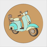 Scooter vector Stock Image
