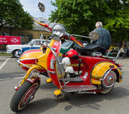 Scooter Vespa PX 200 LeoVince L with attached sidecar Royalty Free Stock Photography