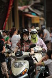 Scooter in Vietnam Stock Photo