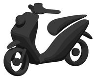 Scooter (Shaded - Silhouette) Stock Photography