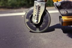Scooter wheel Stock Image
