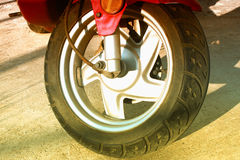 Scooter wheel and tire Royalty Free Stock Image