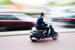 Scooterist Royalty Free Stock Photography