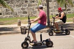 Scooters électriques Photo libre de droits