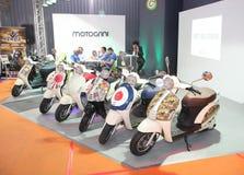 Scooters électriques au Car Show de Belgrade Image libre de droits