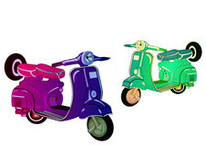 Scooters Royalty Free Stock Photos