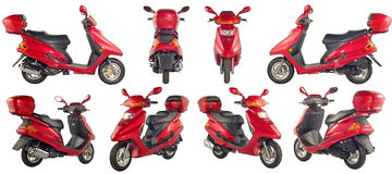 Scooters And Motorcycles Royalty Free Stock Image