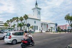 Scooters autour des Bermudes Images libres de droits