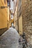 Bikes in Narrow Alley Royalty Free Stock Photo