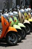 Scooters colorés Image libre de droits