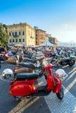 Scooters d'Italien de Vespa de vintage Photo libre de droits