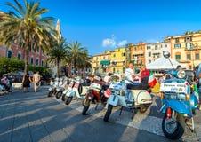 Scooters d'Italien de Vespa de vintage Photographie stock