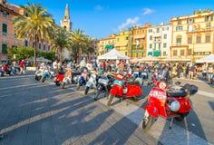 Scooters d'Italien de Vespa de vintage Photos libres de droits