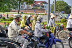 Scooters in Hanoi, Vietnam Royalty Free Stock Photography