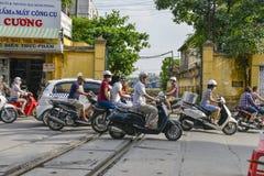 Scooters in Hanoi, Vietnam Stock Image