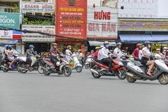 Scooters in Ho Chi Min City, Vietnam Royalty Free Stock Photos