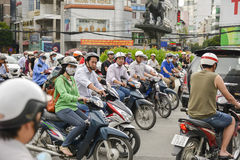 Scooters in Ho Chi Min City, Vietnam