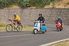 Scooters italiens Lambretta de vintage et Vespa Photos libres de droits