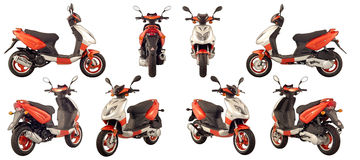 Scooters and motorcycles Royalty Free Stock Photography