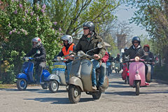 Scooters rally Stock Photo