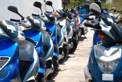 Scooters for rent Stock Image