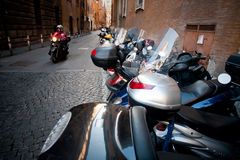 Scooters in Roma Stock Photo