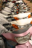 Scooters row royalty free stock images