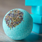 Scope bath. Cosmetic bomb. Meant for relaxation and body care Stock Photo