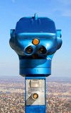 Scope on the Elisabeth look-out tower. Scope on the Beautiful look-out tower on the top of Budapest, Janos Hill Royalty Free Stock Photography