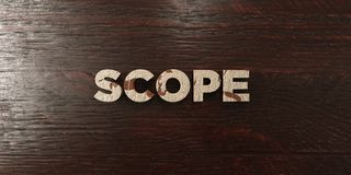 Scope - grungy wooden headline on Maple  - 3D rendered royalty free stock image Stock Images