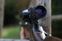 Scope of a hunting rifle gun Stock Photo