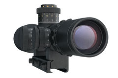 Scope optical military equipment, back view Stock Images