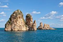 Scopello sea stacks Royalty Free Stock Photography