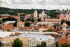 Scoperta di vecchia città di Vilnius Immagini Stock