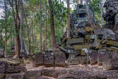 Scoperto nel mezzo della giungla cambogiana il complesso di Angkor immagine stock
