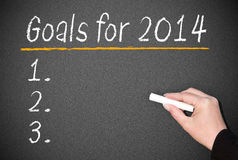 Scopi di affari per 2014 Immagini Stock Libere da Diritti