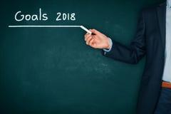Scopi di affari per 2018 Fotografia Stock