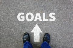 Scopi di scopo che mettono nuovo busin di futuro di strategia di aspirazioni di successo Fotografia Stock