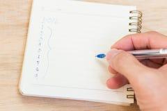 Scopi per 2016 - lista di controllo sul blocco note con la penna Fotografie Stock Libere da Diritti