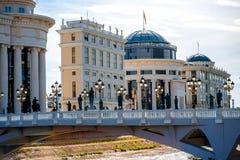 Scopje city center Royalty Free Stock Image