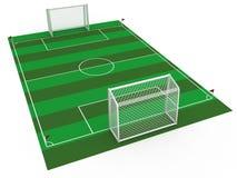 Scopo bianco #4 di calcio Immagini Stock Libere da Diritti
