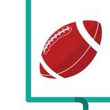 Scopo del campo di football americano Immagine Stock Libera da Diritti