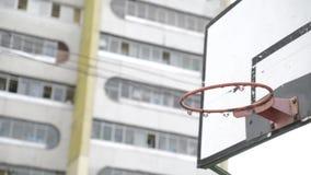 Scopo del cerchio di pallacanestro stock footage
