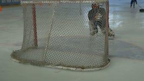 Scopo del hockey su ghiaccio video d archivio