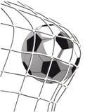 Scopo del pallone da calcio illustrazione vettoriale