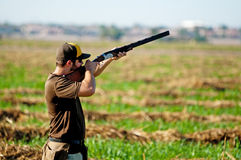 Scopo delle prese del cacciatore della colomba Immagine Stock Libera da Diritti